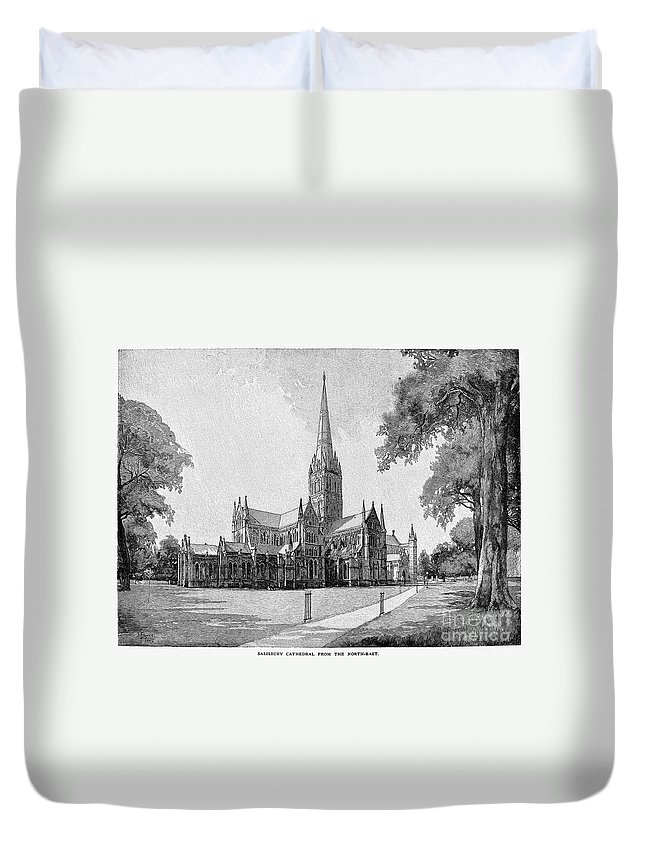 13th Century Duvet Cover featuring the photograph England: Salisbury by Granger