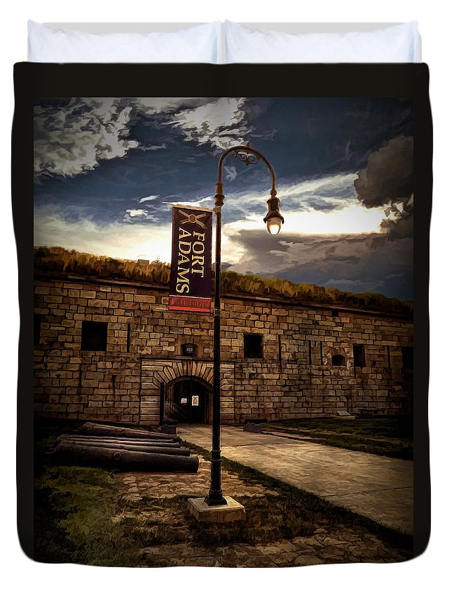 Fort Adams State Park Duvet Cover featuring the photograph Fort Adams State Park by Lourry Legarde