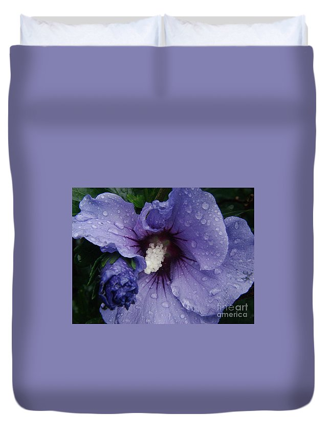 Azure Duvet Cover featuring the photograph Glory by Priscilla Richardson