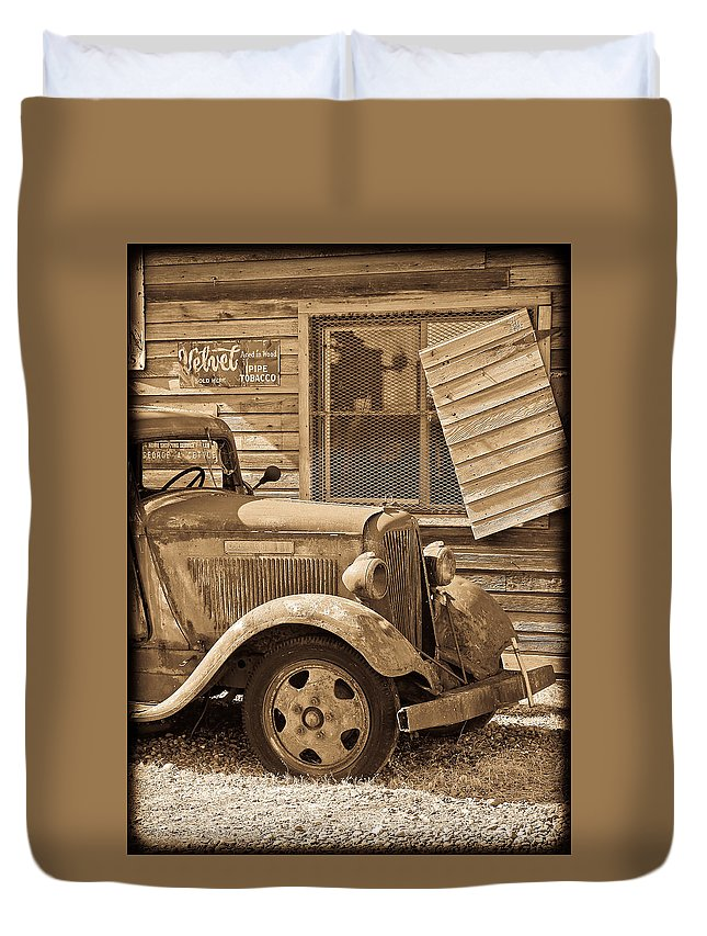 Dodge Duvet Cover featuring the photograph Good Old Days by Steve McKinzie