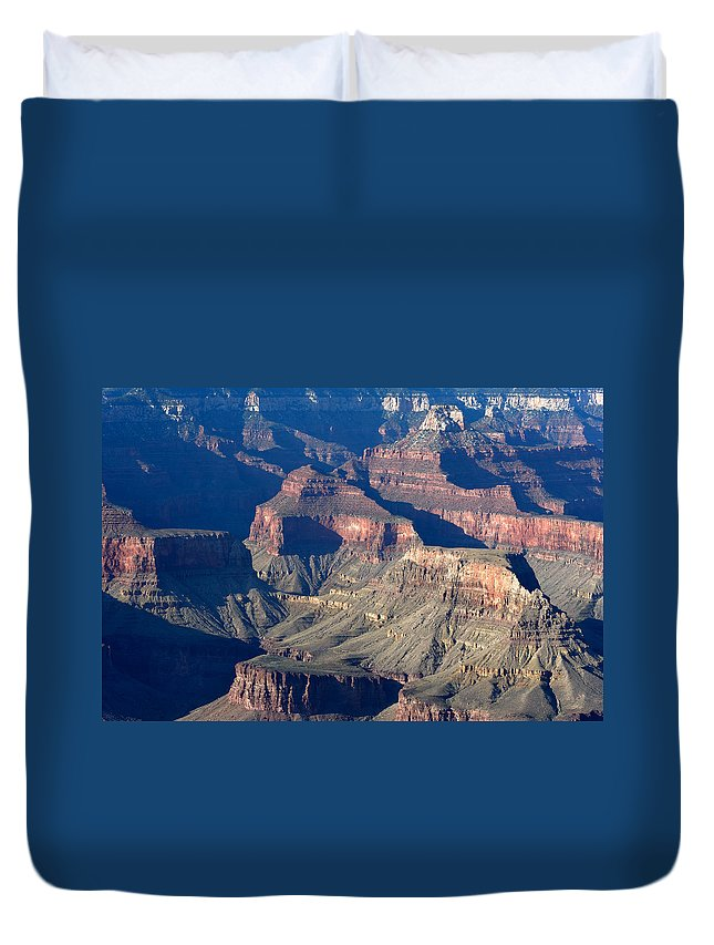 Grand Canyon Duvet Cover featuring the photograph Grand Canyon Shadows by Julie Niemela