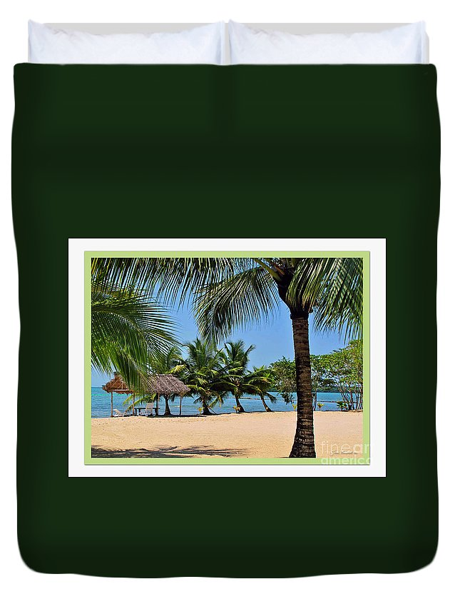 Beach Duvet Cover featuring the photograph Guatamala Beach by Joan Minchak