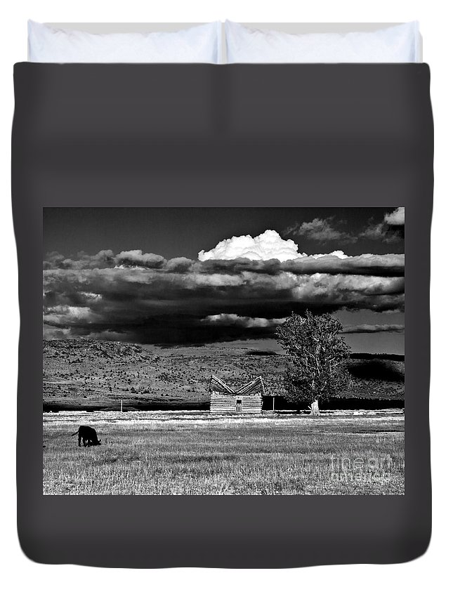 Homestead Duvet Cover featuring the photograph Homestead by Merrill Beck