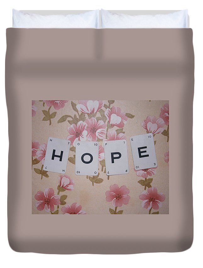 Hope Duvet Cover featuring the photograph Hope by Georgia Fowler