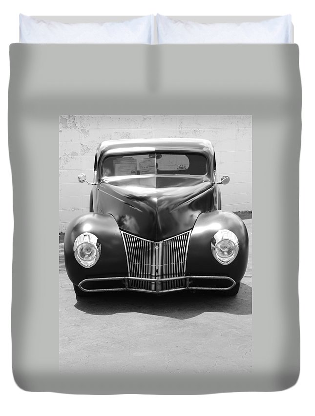 Hot Rod Duvet Cover featuring the photograph Hot Rod Front by Rob Hans