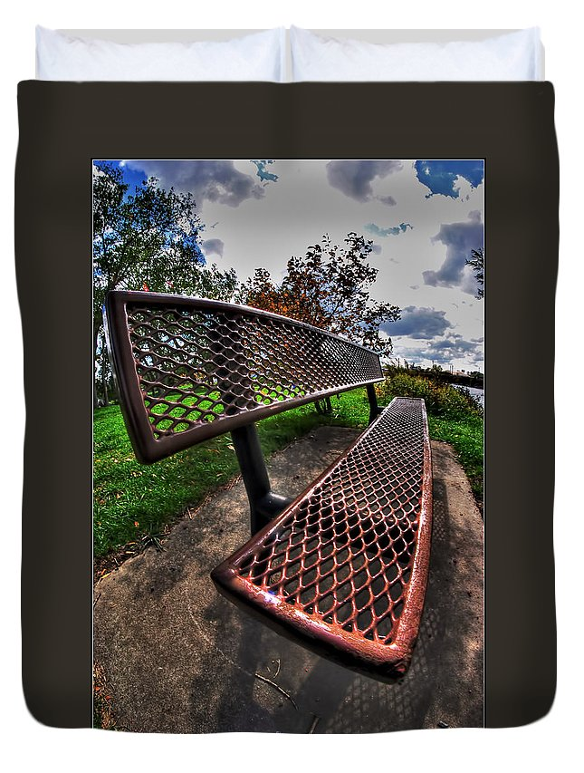 Duvet Cover featuring the photograph How Long Must One Wait by Michael Frank Jr