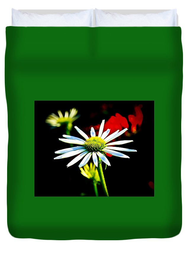 Sunflower Duvet Cover featuring the photograph In Bloom by Steve McKinzie