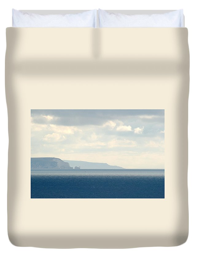 Isle Of Wight Duvet Cover featuring the photograph Isle Of Wight by Chris Day