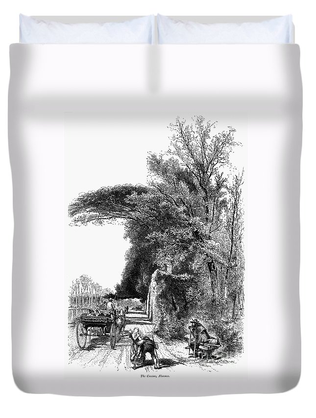1875 Duvet Cover featuring the photograph Italy: Florence, C1875 by Granger