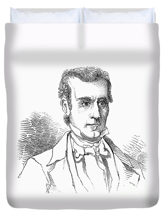 19th Century Duvet Cover featuring the photograph James K. Polk (1795-1849) by Granger