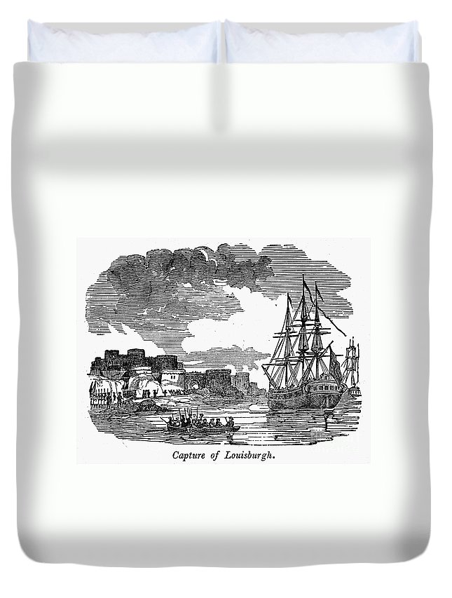 1745 Duvet Cover featuring the photograph King Georges War, 1745 by Granger