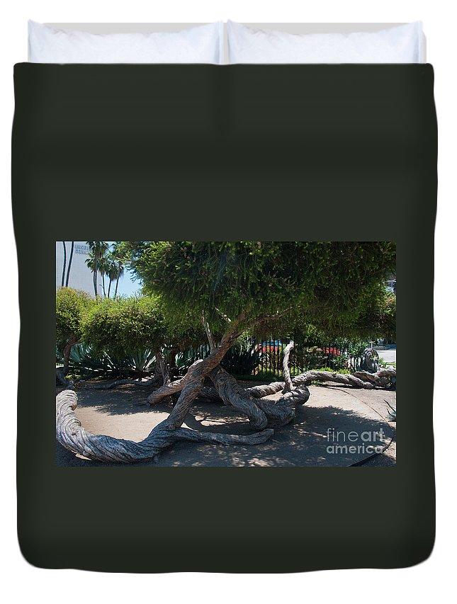 California Duvet Cover featuring the digital art La Brea Tar Pits by Carol Ailles