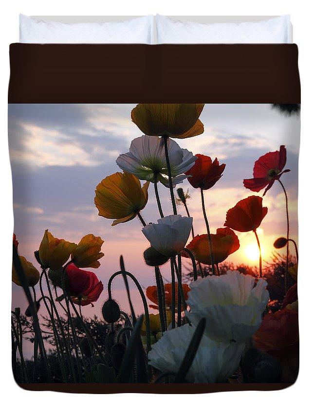 Sunset Duvet Cover featuring the photograph Lake Geneva Sunset by Milena Boeva