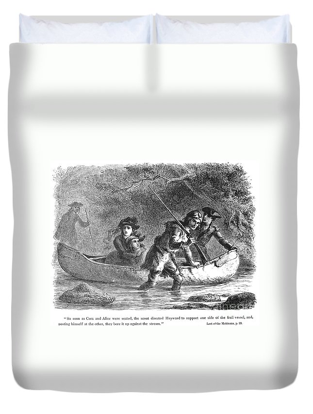 1872 Duvet Cover featuring the photograph Last Of The Mohicans, 1872 by Granger