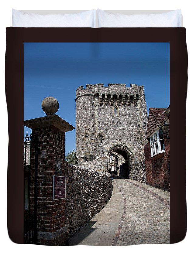 Lewes Castle Duvet Cover featuring the photograph Lewes Castle by Dawn OConnor