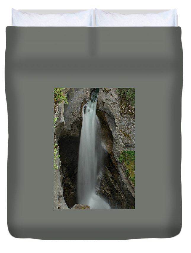 Maligne Canyon Duvet Cover featuring the photograph Maligne Canyon by Robert Caddy