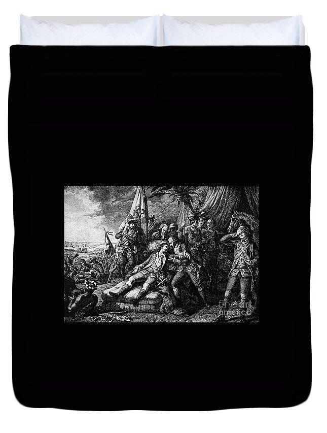 1759 Duvet Cover featuring the photograph Marquis De Montcalm by Granger
