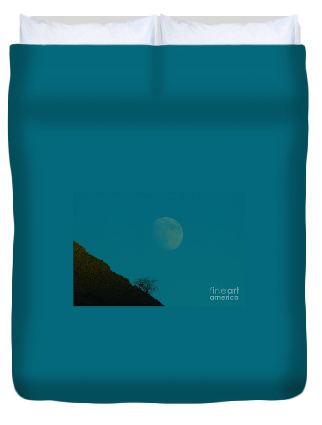 Moon Duvet Cover featuring the photograph Moon by Jeff Swan