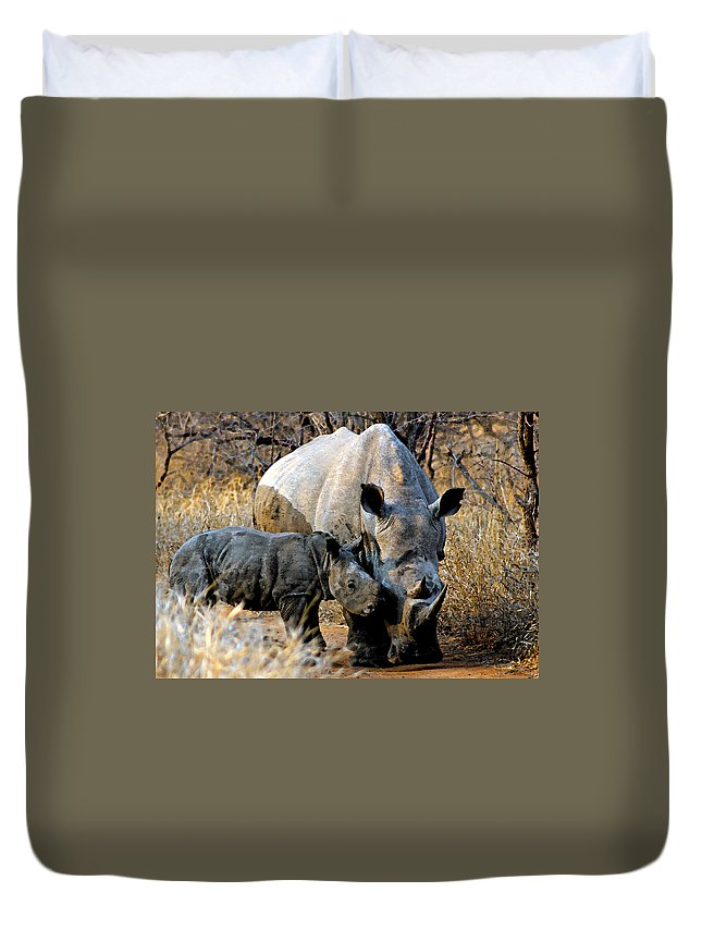 Africa Duvet Cover featuring the photograph Mother And Child by Paul Fell