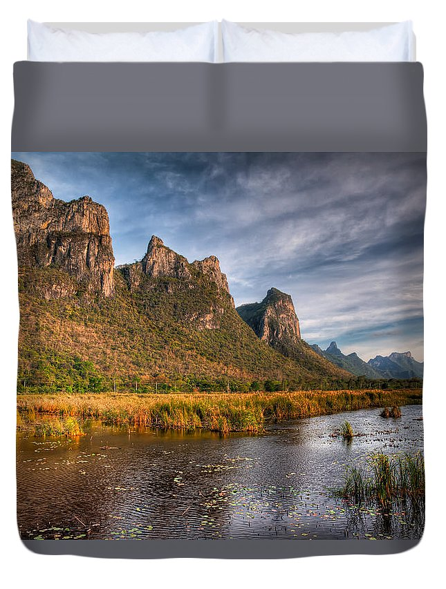 Asia Duvet Cover featuring the photograph National Park by Adrian Evans