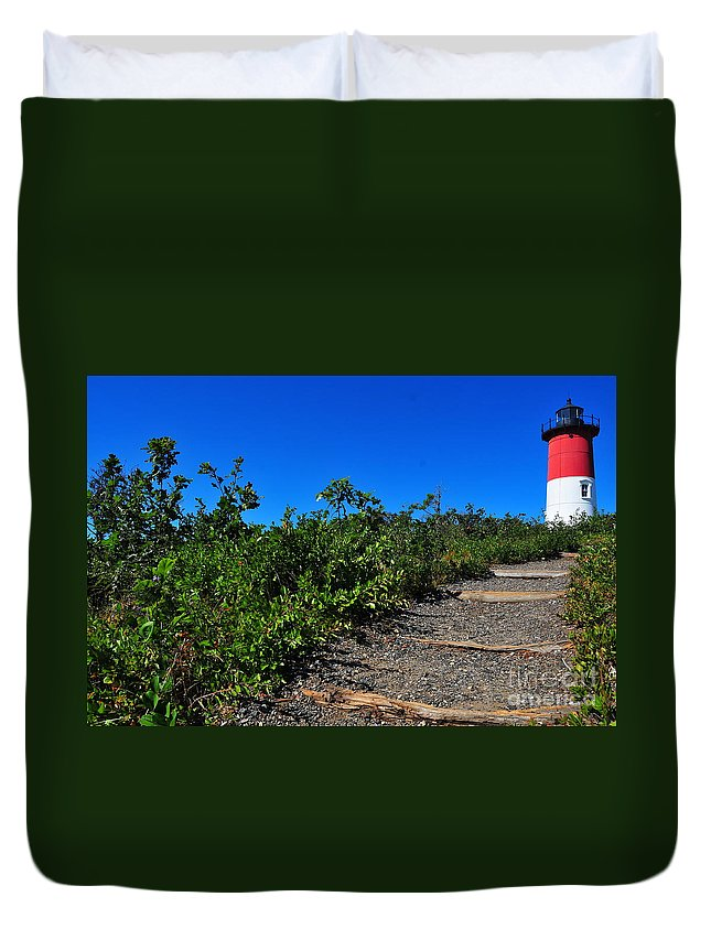 Cape Cod Duvet Cover featuring the photograph Nauset Light by Catherine Reusch Daley