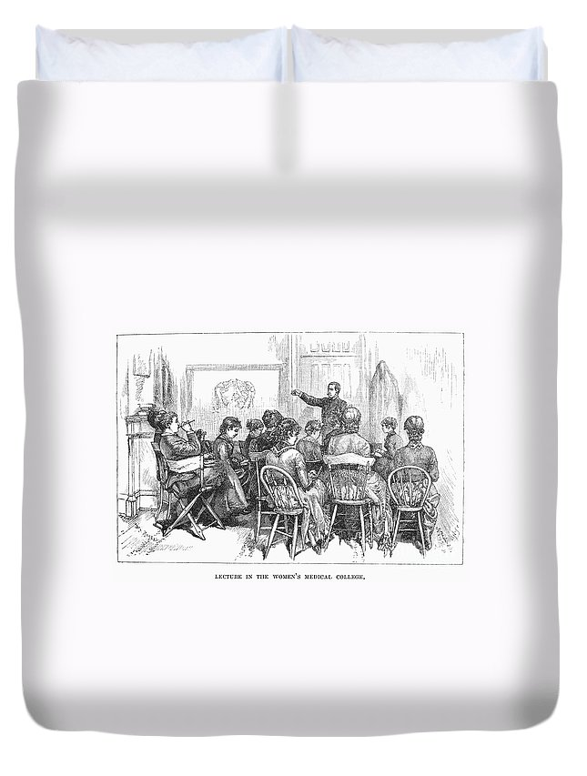1882 Duvet Cover featuring the photograph New York: Medical College by Granger