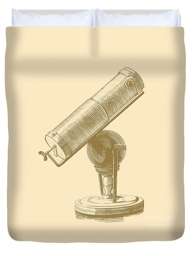 17th Century Duvet Cover featuring the photograph Newtons Little Reflector by Science Source