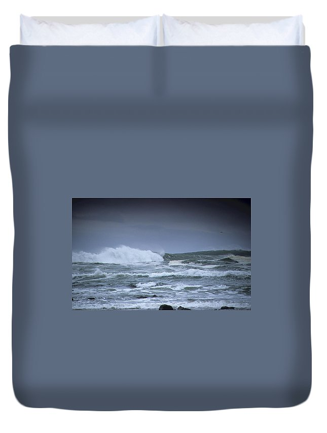 Ocean Duvet Cover featuring the photograph Ocean Surf by One Rude Dawg Orcutt