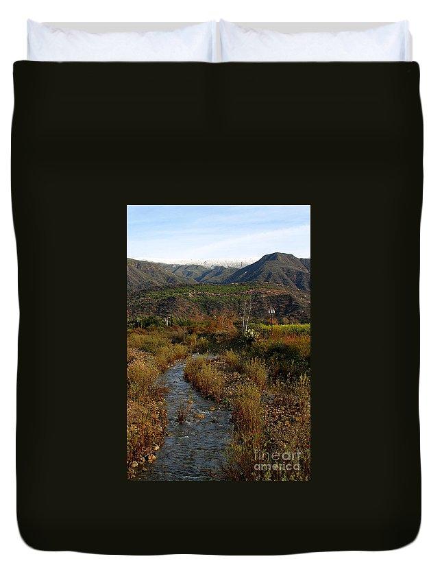 Ojai Duvet Cover featuring the photograph Ojai Valley by Henrik Lehnerer