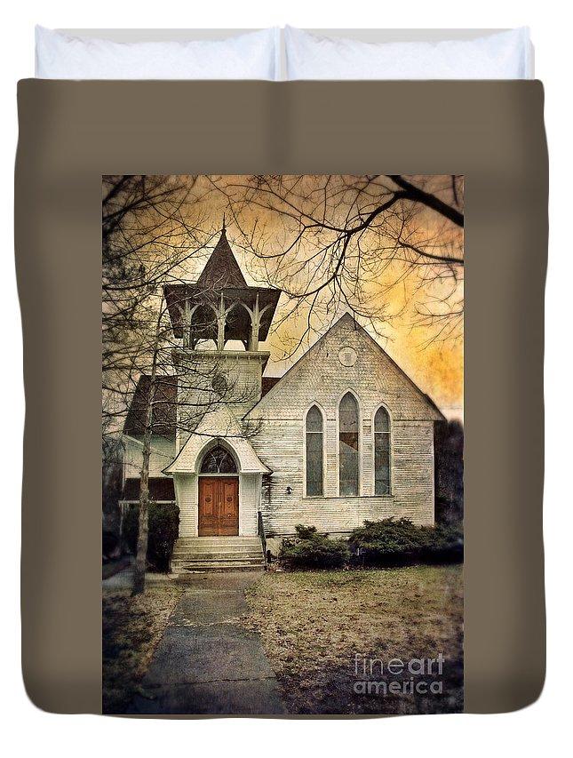 Church Duvet Cover featuring the photograph Old Church by Jill Battaglia