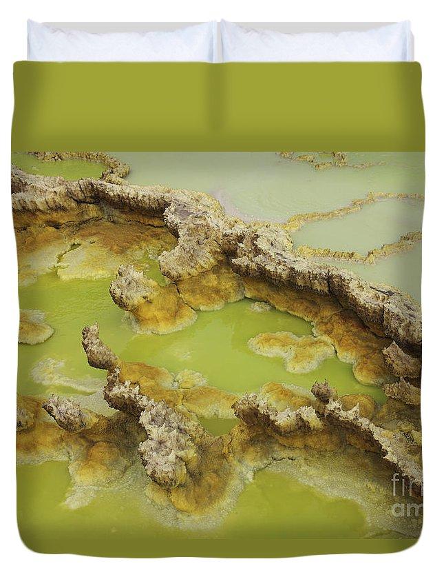 Lake Duvet Cover featuring the photograph Potassium Salt Deposits, Dallol by Richard Roscoe