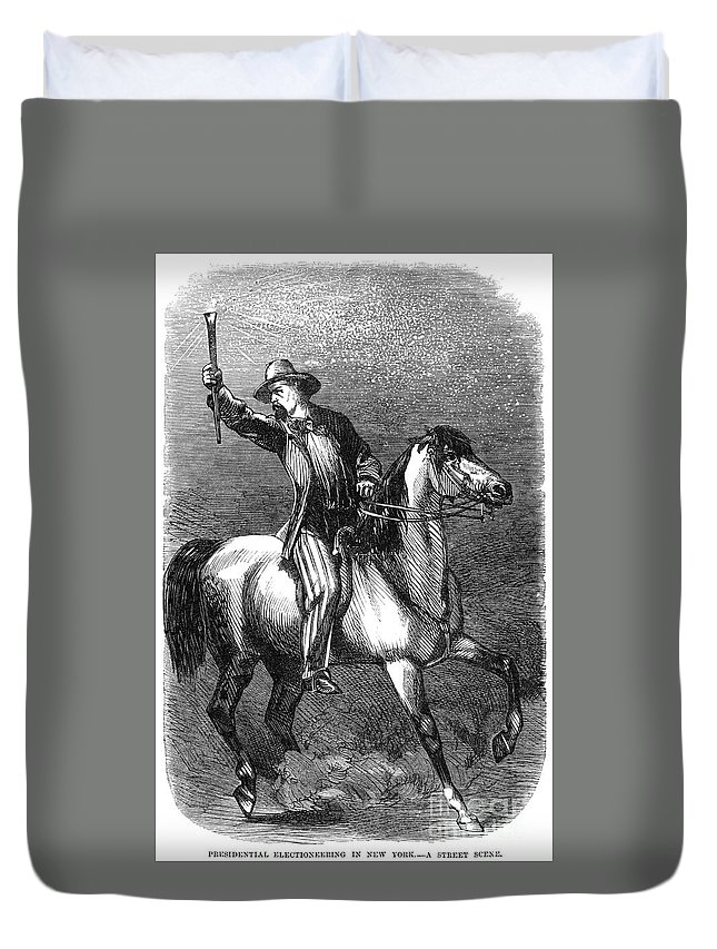 1864 Duvet Cover featuring the photograph Presidential Campaign, 1864 by Granger