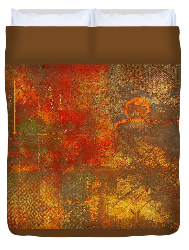Price Duvet Cover featuring the painting Price Of Freedom by Christopher Gaston