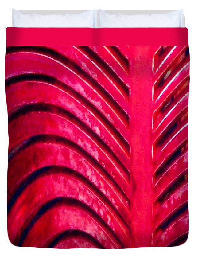 Abstract Duvet Cover featuring the photograph Red Ribs by Patricia Blake