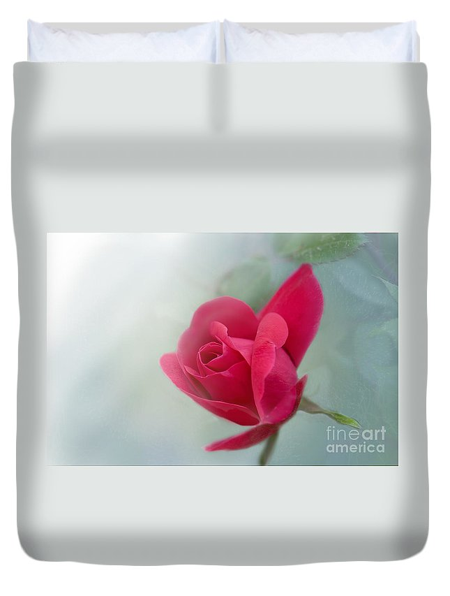 Rose Duvet Cover featuring the photograph Red Rose by Betty LaRue