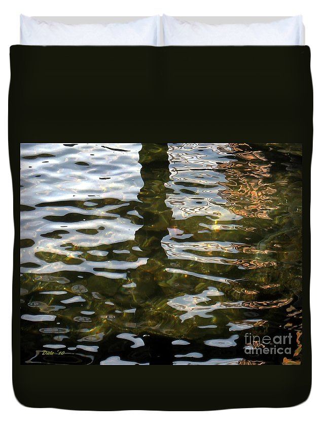 Water Duvet Cover featuring the digital art Reflections by Dale  Ford