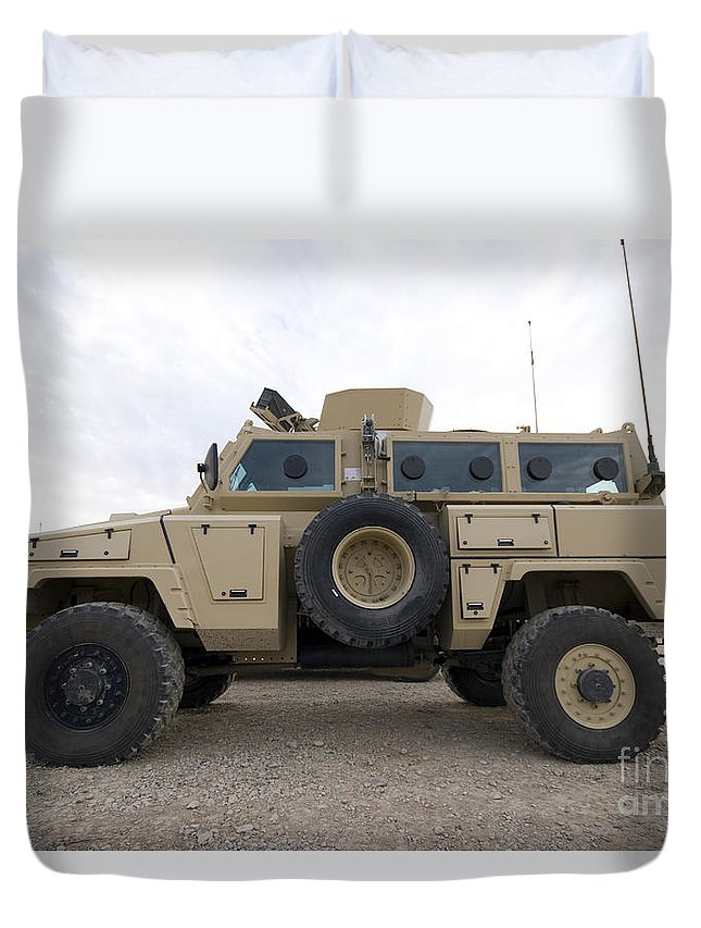 Vehicles Duvet Cover featuring the photograph Rg-31 Nyala Armored Vehicle by Terry Moore