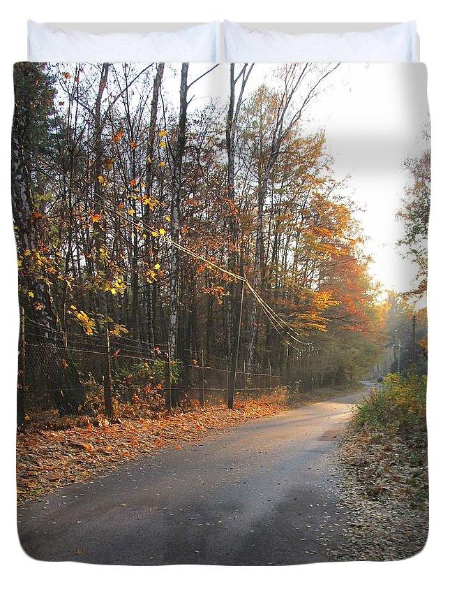Colour Duvet Cover featuring the photograph Road by Wojtek Kowalski