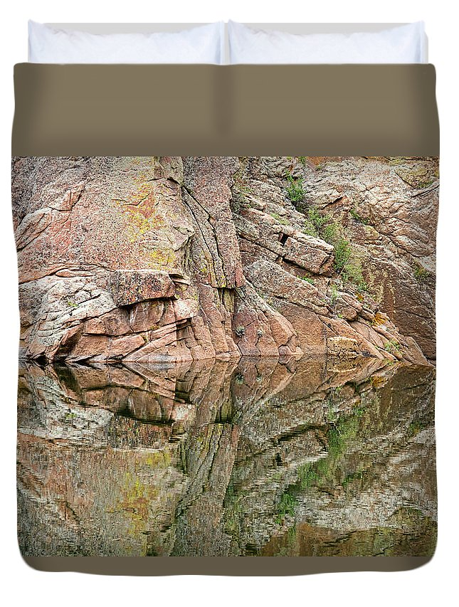 Rocky Mountains' Duvet Cover featuring the photograph Rocky Mountain Reflections by James BO Insogna