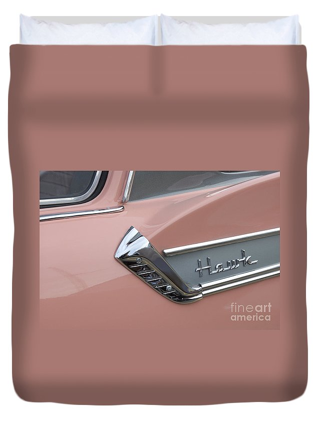 Classic Car Duvet Cover featuring the photograph Route 66 Studebaker Hawk by Bob Christopher