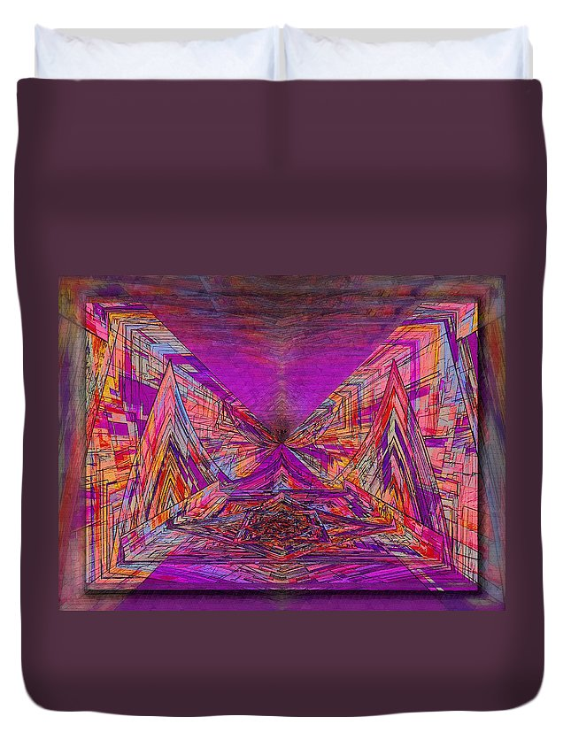 Abstract Duvet Cover featuring the digital art Rumblings Within by Tim Allen