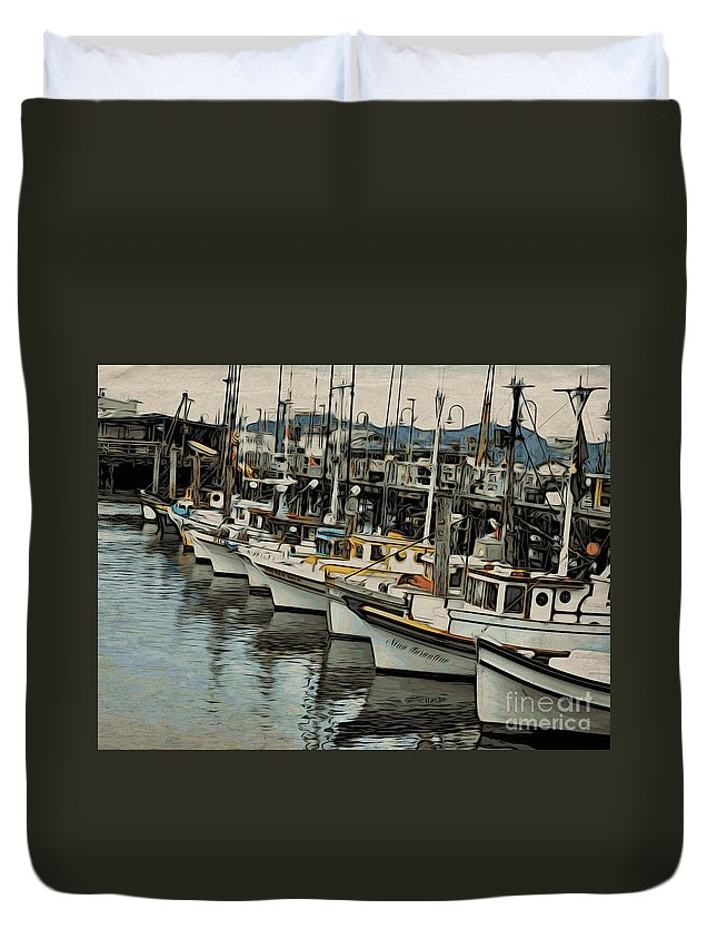 Water Duvet Cover featuring the photograph Safe Harbor 2 by Jacklyn Duryea Fraizer