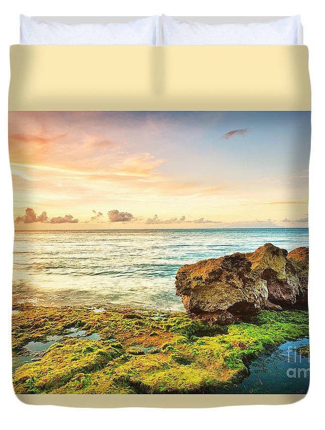Beach Duvet Cover featuring the photograph Seascape by MotHaiBaPhoto Prints