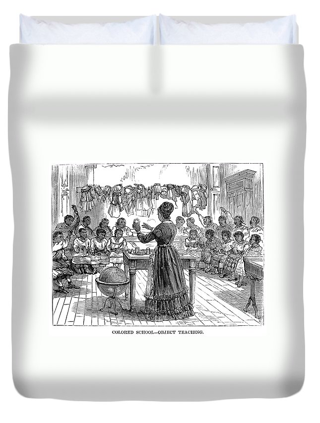 1870 Duvet Cover featuring the photograph Segregated School, 1870 by Granger