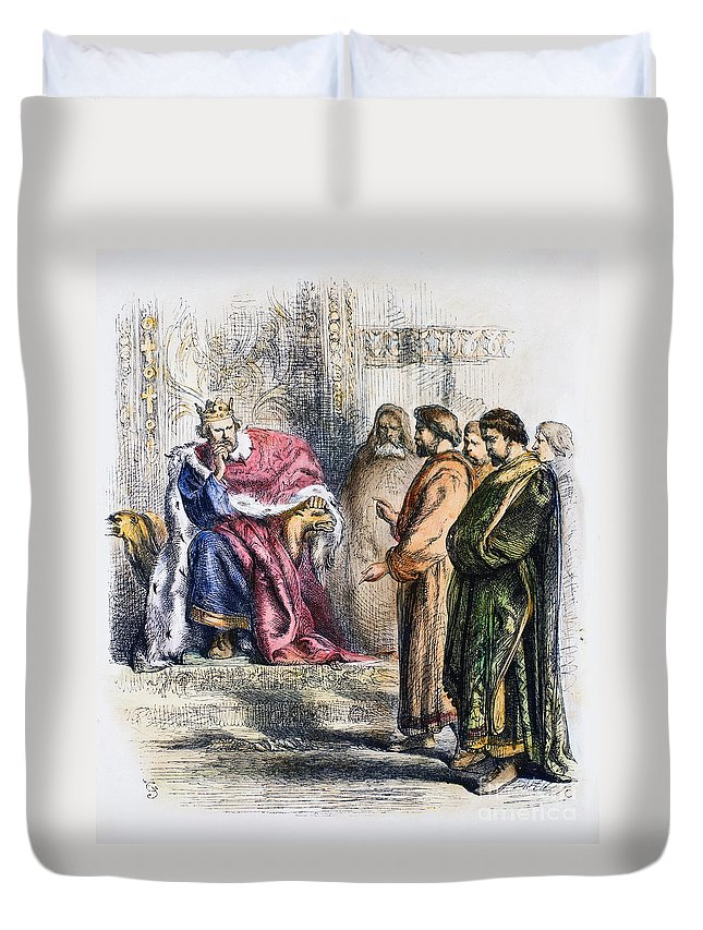 13th Century Duvet Cover featuring the photograph Shakespeare: King John by Granger
