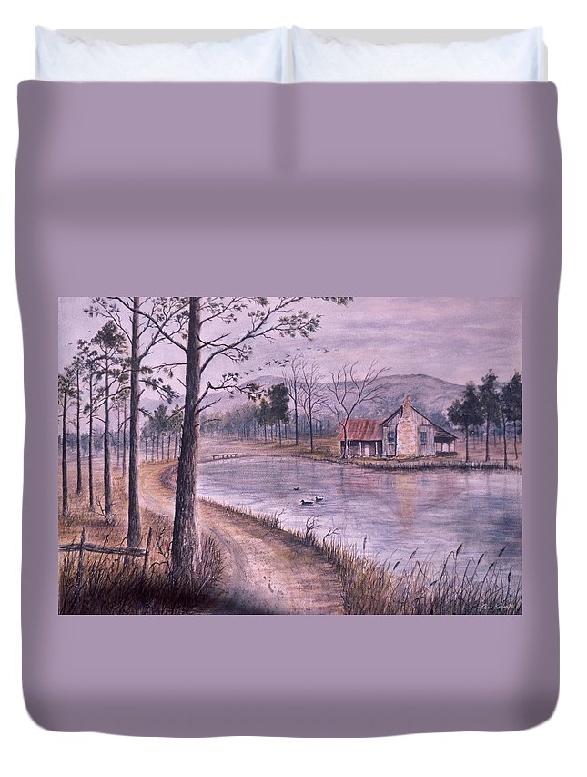 Morning Duvet Cover featuring the painting South Carolina Morning by Ben Kiger