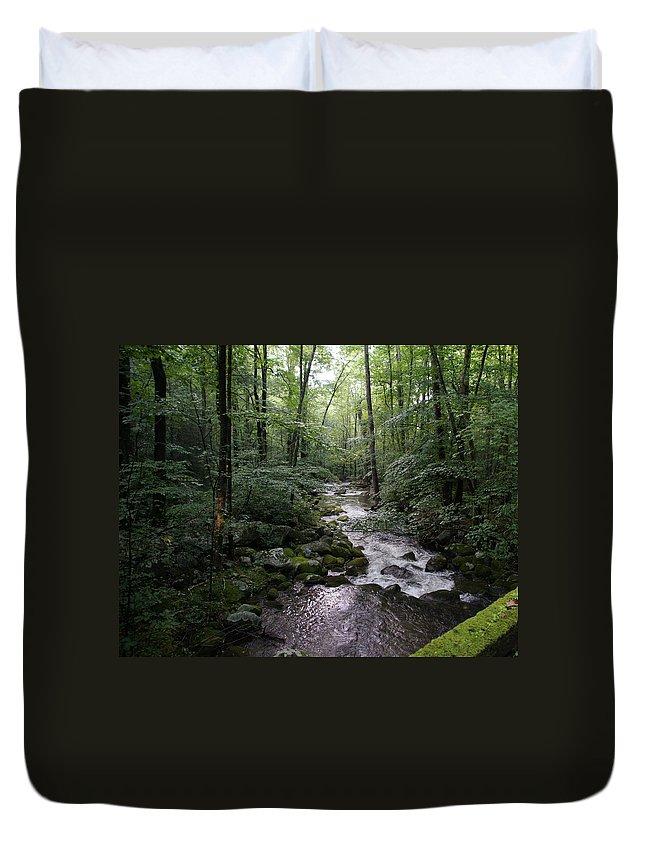 Landscape Duvet Cover featuring the photograph Stream by Megan Cohen