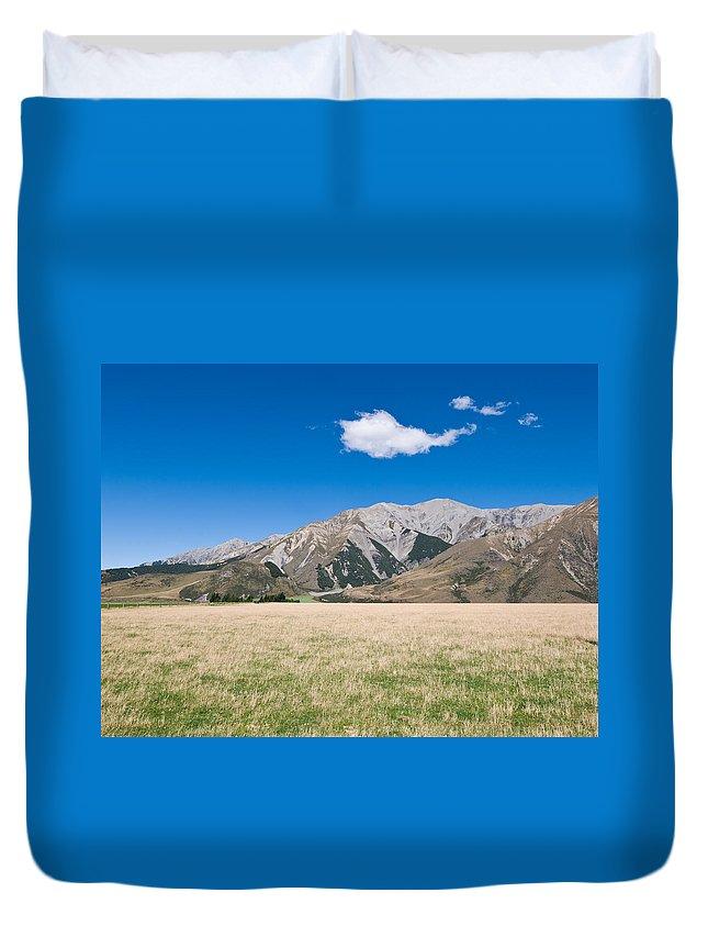 Air Duvet Cover featuring the photograph Summer Landscape Blue Sky by U Schade