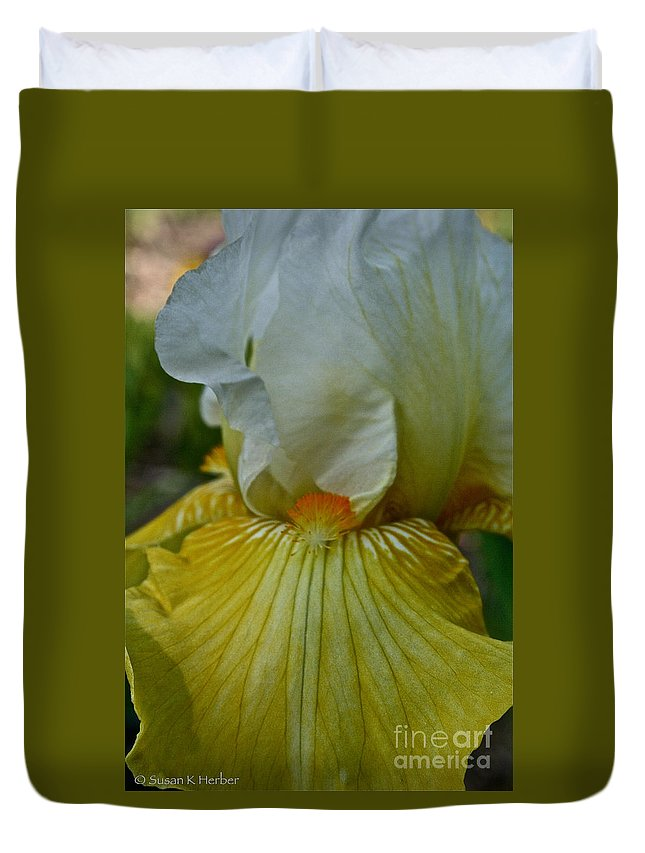 Plant Duvet Cover featuring the photograph Sunny Side Up by Susan Herber
