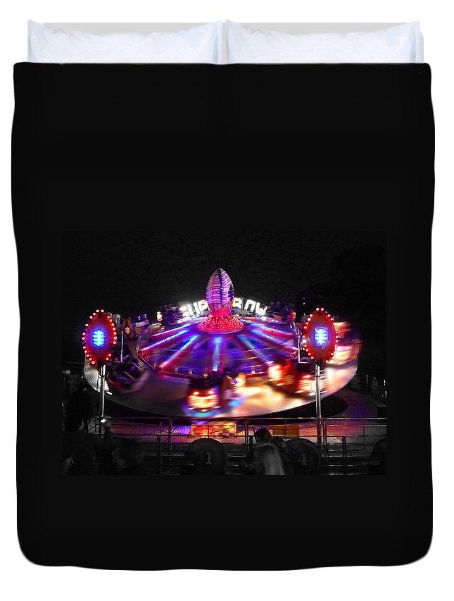 Fun Fair Duvet Cover featuring the digital art Super Bowl by Charles Stuart